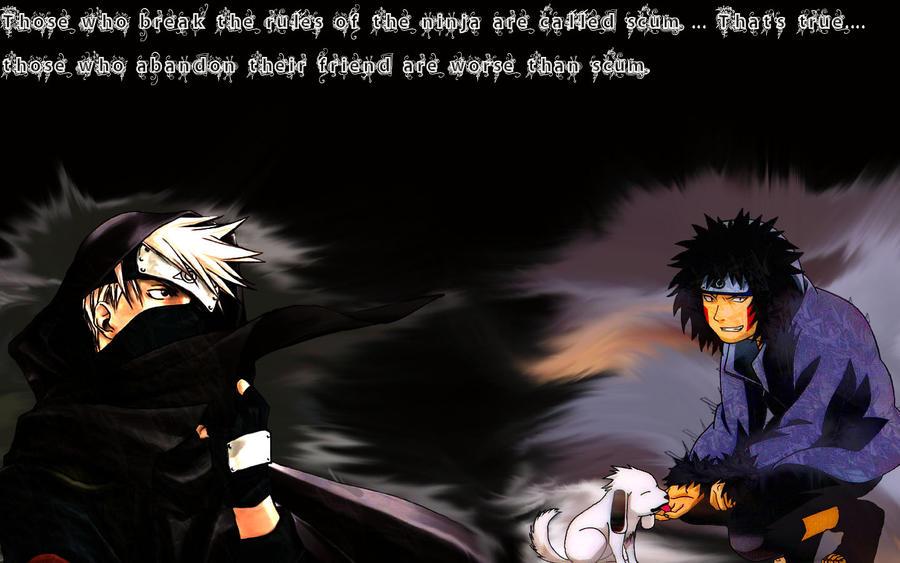 kakashi and Kiba background by  Kakashi Quotes