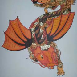 Koi  dragon by r3n33gurl101