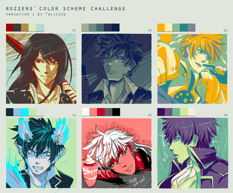 color scheme challenge fan arts by ahoguu on deviantart