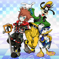 Kingdom Hearts 3 - Sora , Goofy , Donald Duck by YogurtDollArt