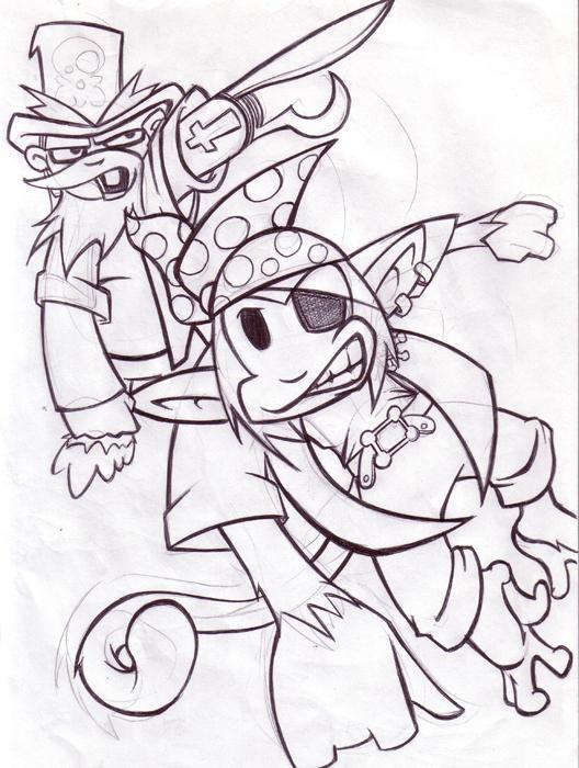 Pirate monkeys by saintpepsi
