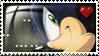 Dark Super Sonic Love Stamp