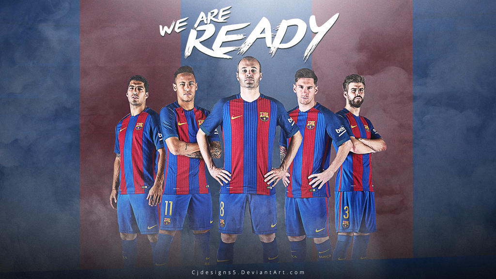 fc barcelona new kit 2016 17 wallpaper by cjdesigns5 on