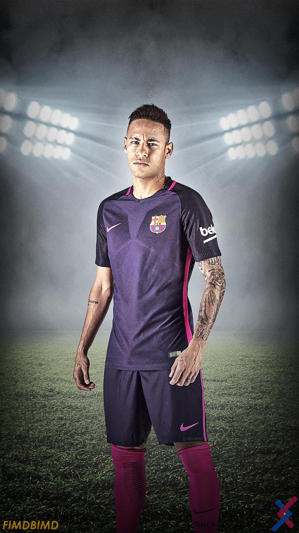 reputable site 1dc85 abb49 Neymar Jr. New FCB kit by CjDesigns5 on DeviantArt