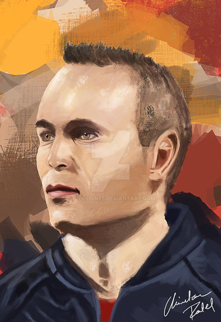Andres Iniesta ! by CjDesigns5