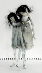 Anouk No.2 Handmade Art Doll by mollyfishskins