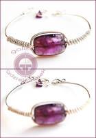 Amethyst bracelet by OlgaC