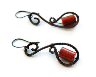 coral Earrings by OlgaC