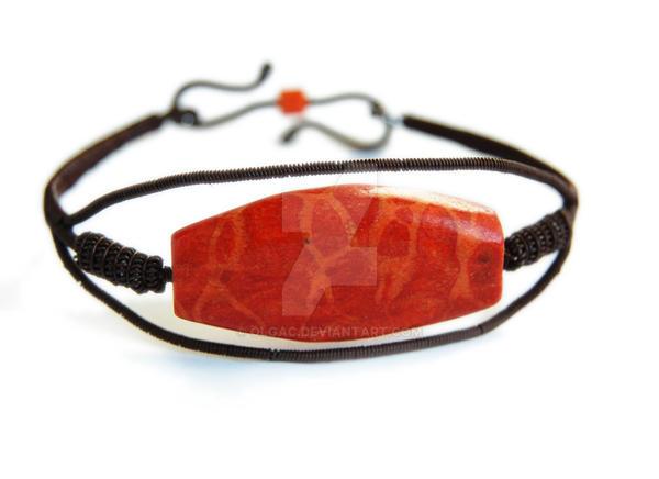 Coral bracelet - set by OlgaC