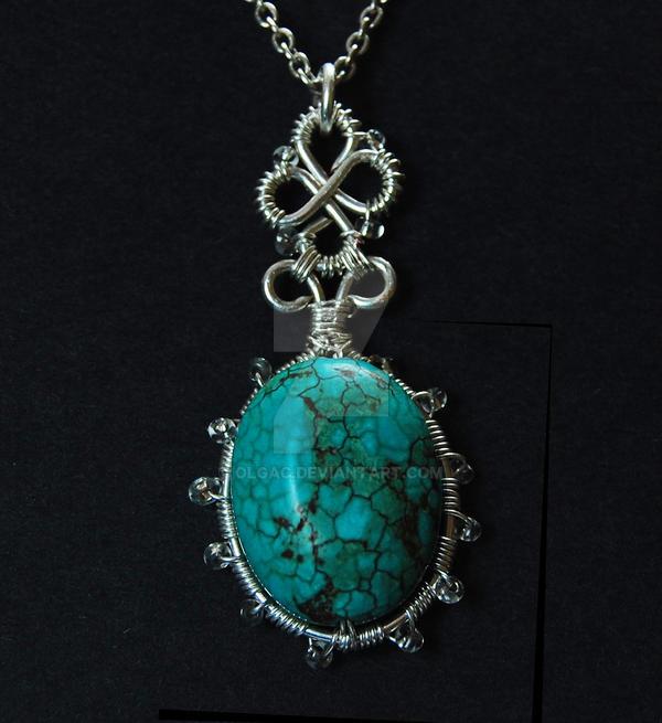 Turquoise pendant by OlgaC