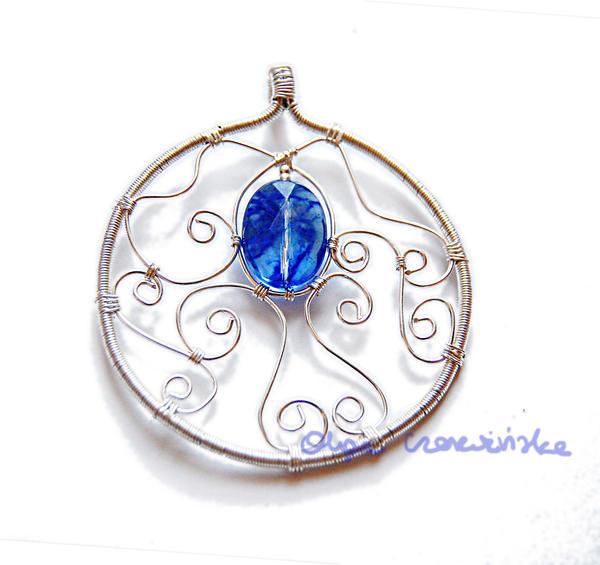 Berry quartz big pendant by OlgaC