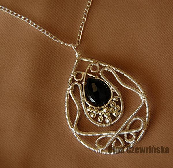 Black sapphire pendant by OlgaC