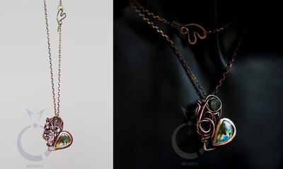 Labradorite heart by OlgaC
