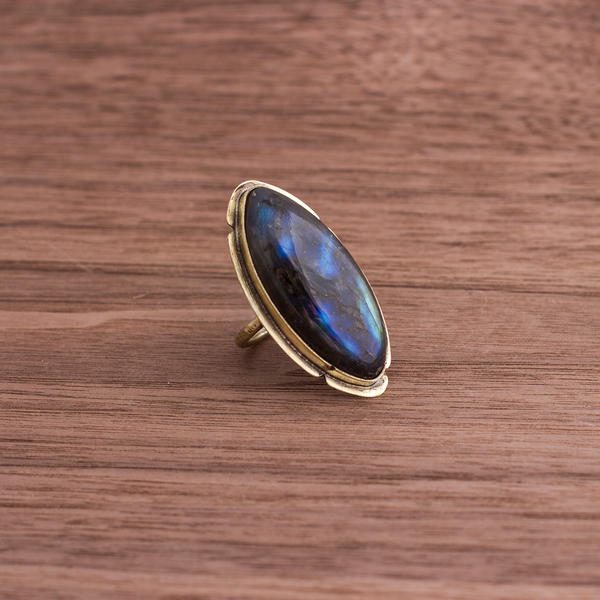 Labradorite and brass by OlgaC