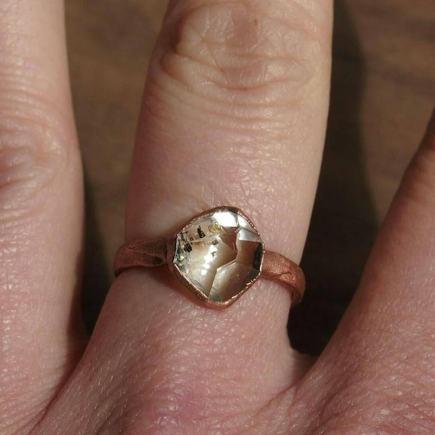 herkimer diamond ring 1 by OlgaC