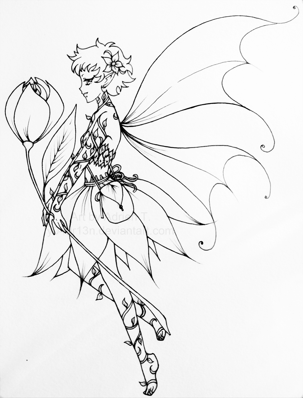 nerida the flower fairy by matronminerva on deviantart