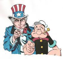 Popeye Patriotic 5 by zombiegoon