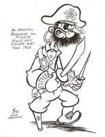 Patcheye the Pirate by zombiegoon