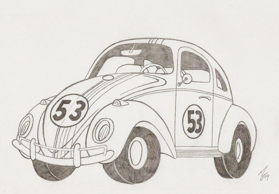 Herbie Car Coloring Pages : Coloring herbie page free pages