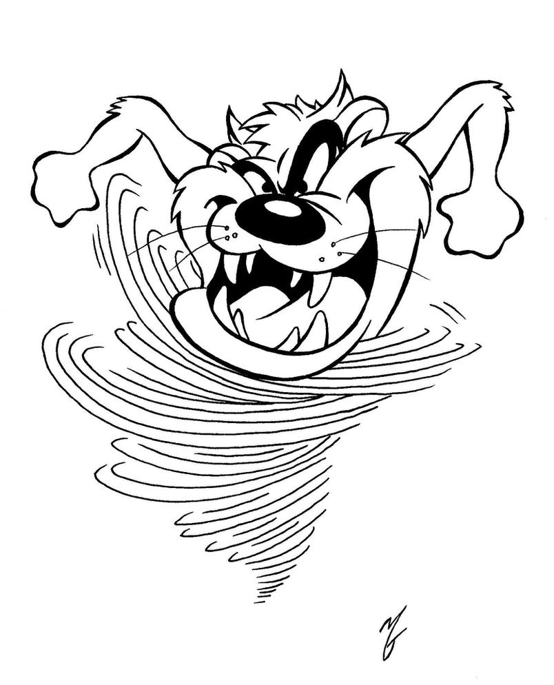 Tasmanian devil by zombiegoon on deviantart for Devil coloring pages