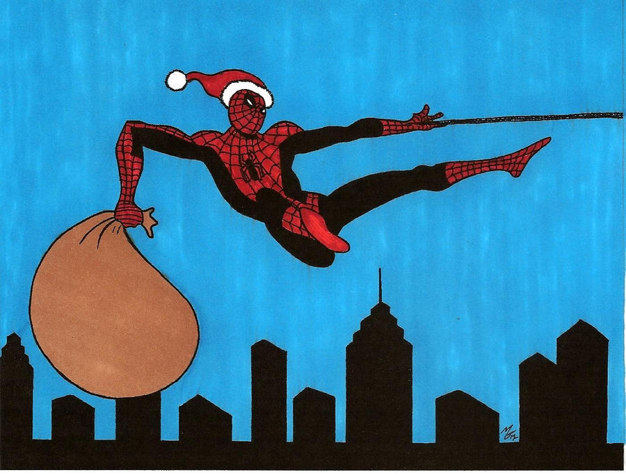 Spider-man's Christmas by zombiegoon on DeviantArt