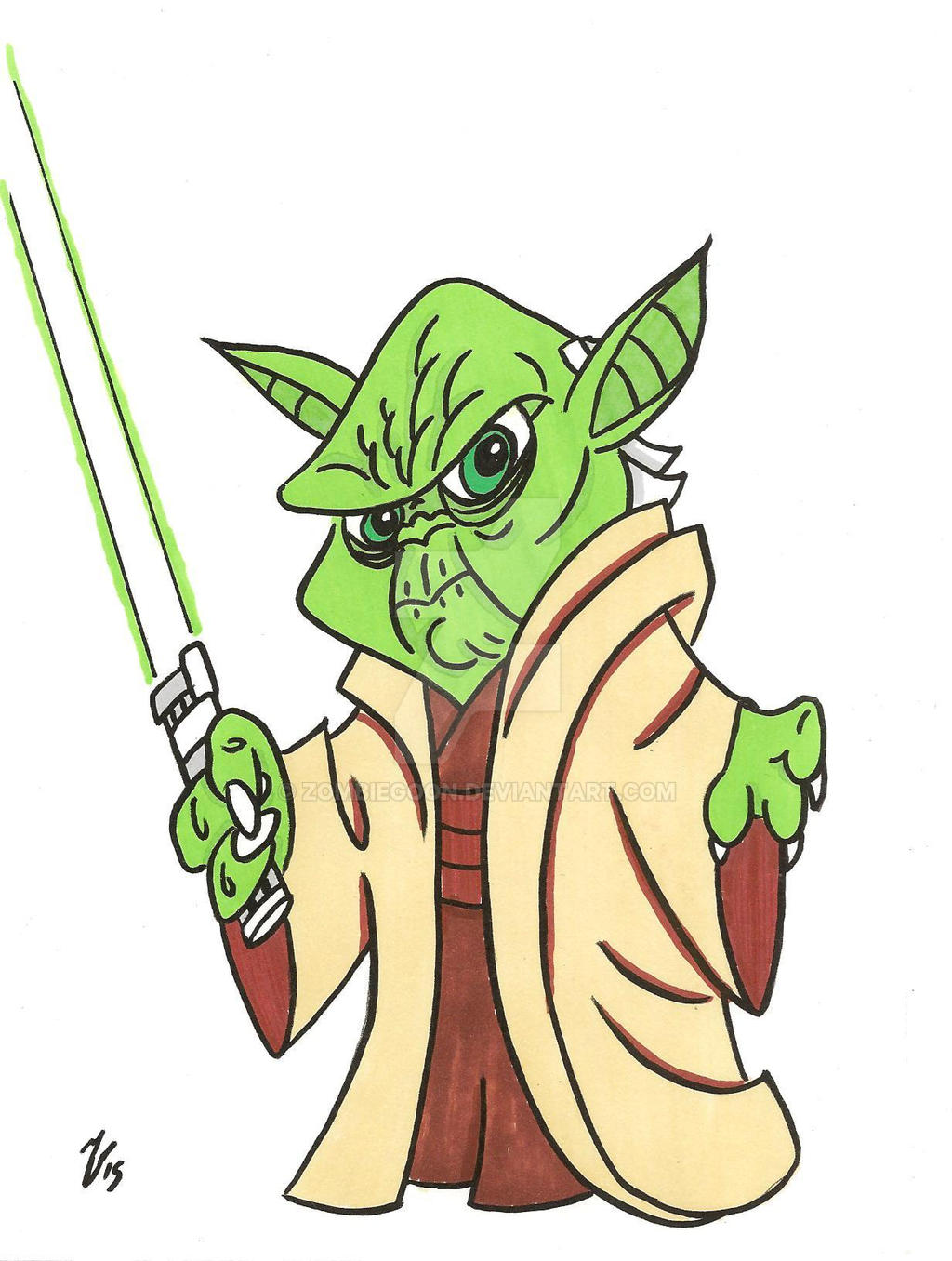 Yoda animated by zombiegoon on DeviantArt