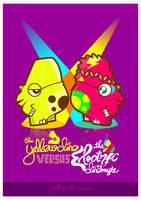 yellow dino x electricdinomyte by loveshugah