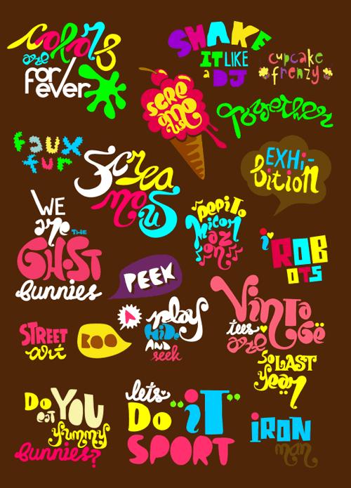 various type by loveshugah