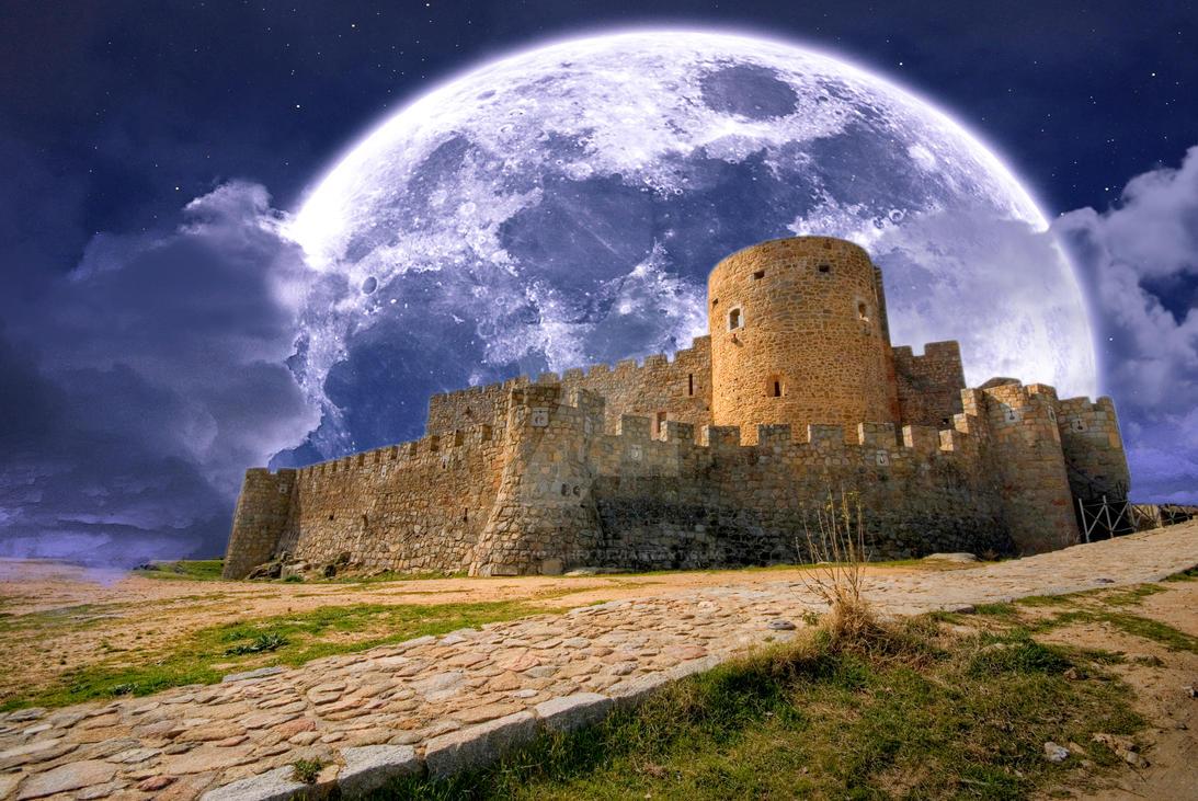 Castillo De La Adrada - Moon Castle Fx by ArtwithoutabrushFx