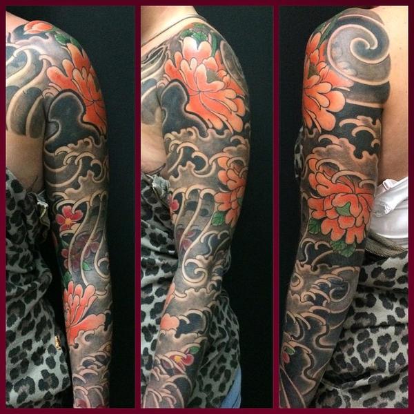 Yakuza Tattoo Sleeve Design