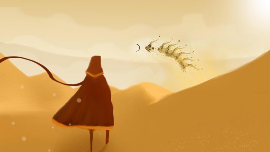 PS3 Journey Fan art by santi-yo