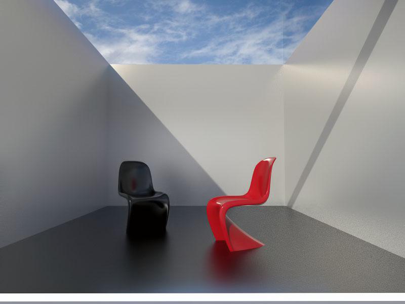 3D Chairs Render by santi-yo