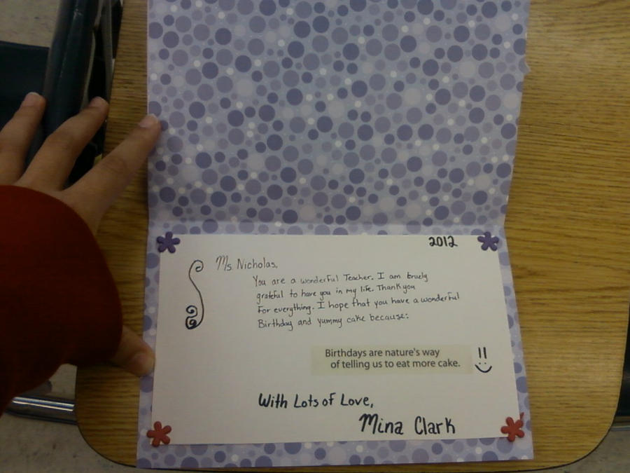 Purple Birthday Card Inside By Mina1015 On Deviantart