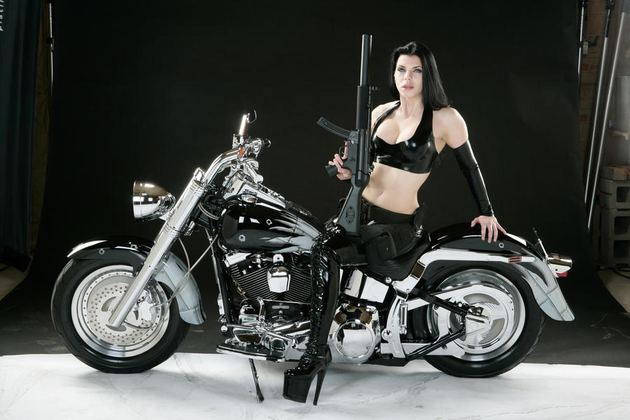 Bang  Bang on a Bike 5 by Blaq-Unicorn