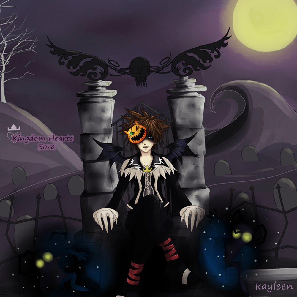 Kingdom Hearts - Sora in Halloween Town Graveyard by kayleen-chan ...