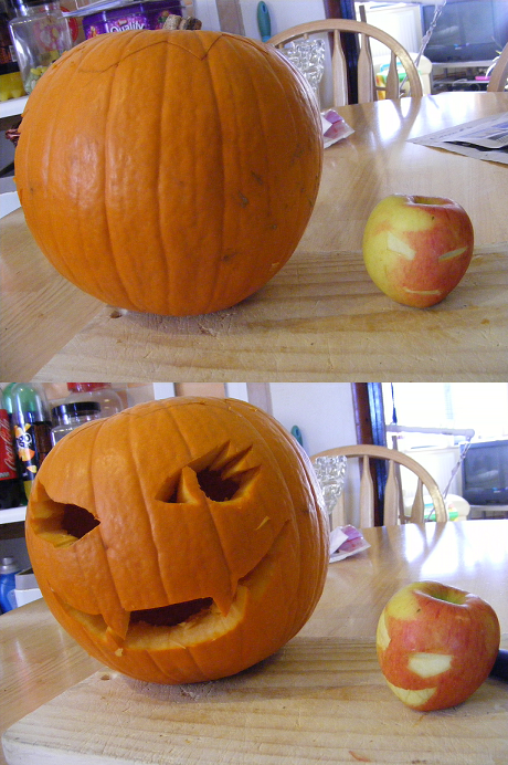 Pumpkin carving by coppy cat on deviantart for Cat carved into pumpkin