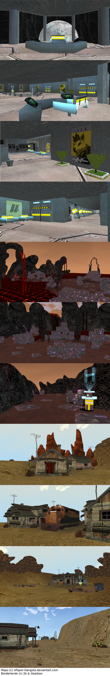 Borderlands. [FeralHeart Map Pack WiP] #1 by xPaper-Gangsta