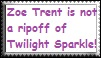 Zoe Trent is NOT A RIP-OFF--Stamp by kitten44332