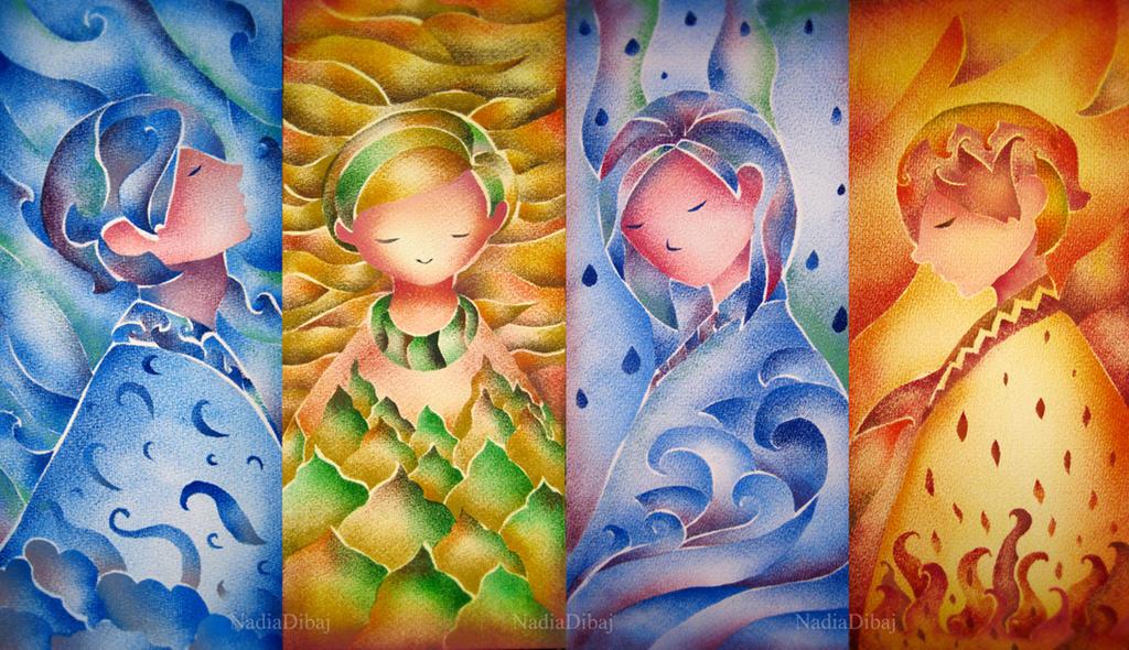Four elements by NadiaDibaj