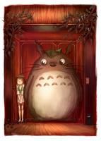 Totoro in Spirited Away by NadiaDibaj