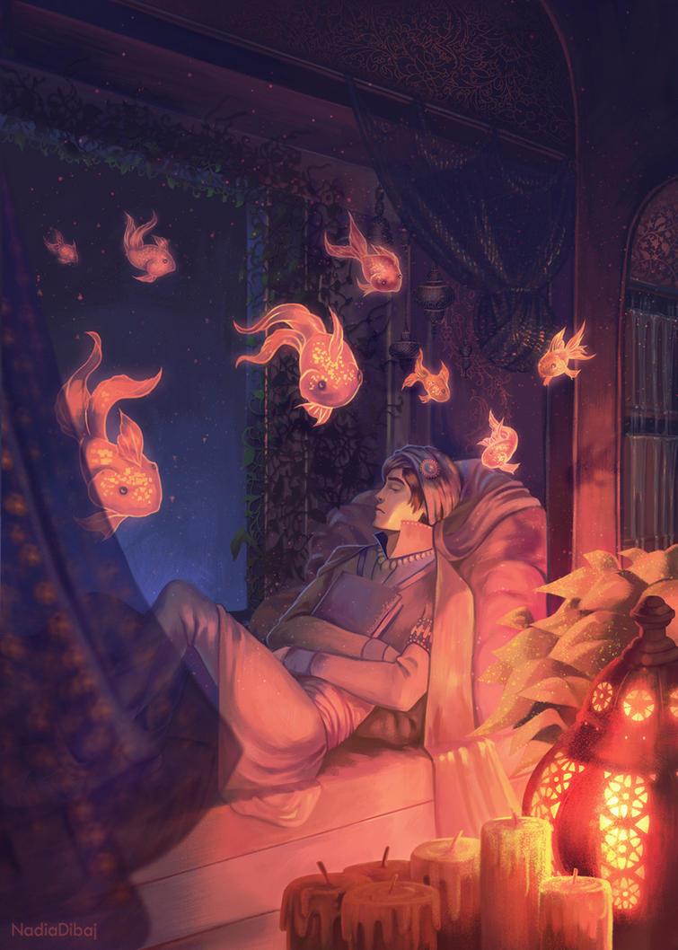 In the depths of sleep by NadiaDibaj