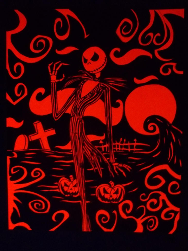 Nightmare Before Christmas Blacklight Poster by ElectricLimeRose on ...