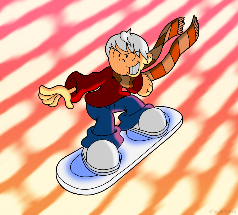 AT: Surfing at sunset by ChequeredTee