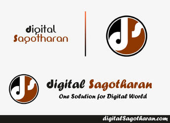 Digital Sagotharan dot com Website Logo Design