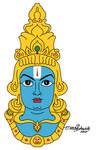 Vishnu Hindu god digital painting