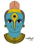 Shiva linga painting