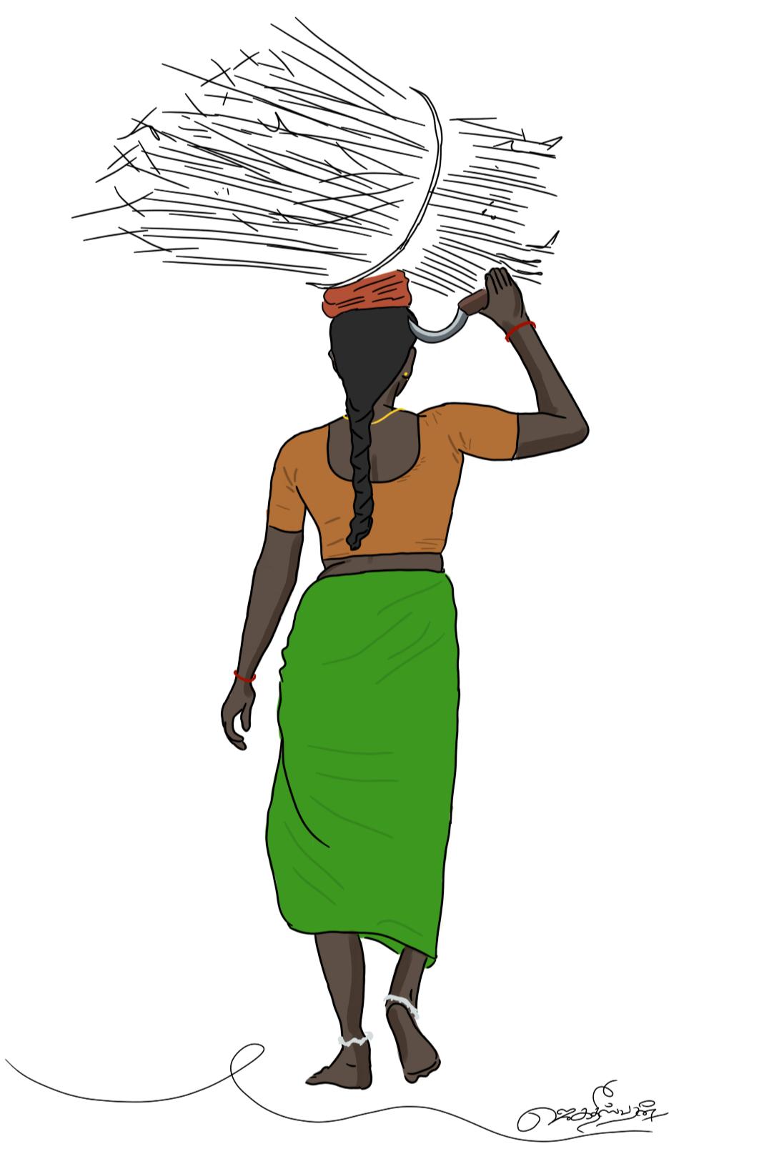 Tamil Nadu village woman