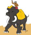 Chola elephant digital painting