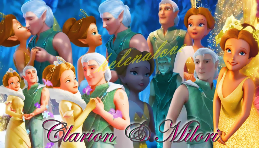 Tinkerbell Queen Clarion And Lord Milori Queen clarion and lord miloriLord Milori And Queen Clarion Kiss