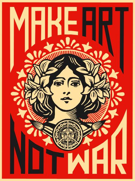 Make Art Not War by whereYOUendd